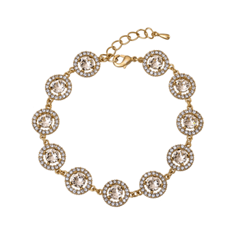 Lily and Rose - Miranda bracelet light silk (guld)