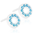 Blomdahl - BRILLIANCE PUCK HOLLOW - Blomdahl - BRILLIANCE PUCK HOLLOW AQUAMARINE, 8 MM