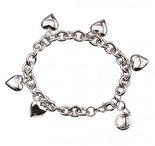 SNÖ - Card charm bracelet plain