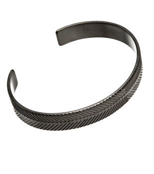 Edblad - Herringbone Bracelet Black Steel