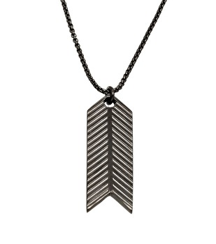 Edblad - Herringbone Necklace Black Steel