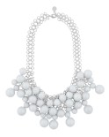Snö -  Poppi Tassel Necklace Silver/White