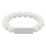 Snö - Poppi Elastic Bracelet Silver/White