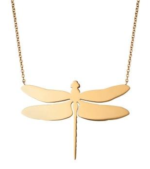 Edblad - Dragonfly Necklace Large Gold