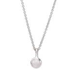 Nordahl Andersen - Sweets w.rose quartz silver 5mm halsband