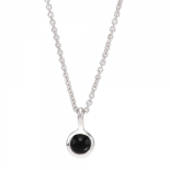 Nordahl Andersen - Sweets w.black onyx silver 5mm halsband