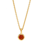 Nordahl Andersen - Sweets w.red onyx gold 5mm halsband