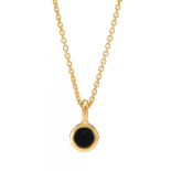 Nordahl Andersen - Sweets w.black onyx gold 5mm halsband