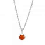 Nordahl Andersen - Sweets w.red onyx silver 5mm halsband