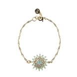 Snö - Judith Chain Bracelet Gold/Matt Turquoise