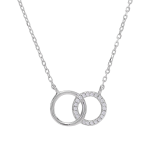 Joanli Nor - Anna circles silver cz halsband
