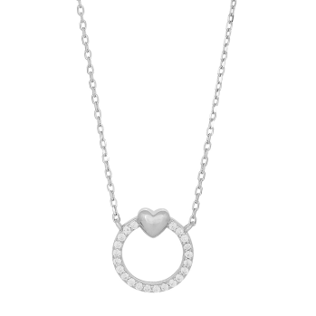 Joanli Nor - Brina 10mm silver cz halsband