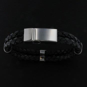 Läderarmband 19cm