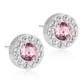 Blomdahl - BRILLIANCE HALO CRYSTAL/LIGHT ROSE, 8 MM