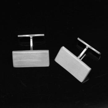 Manschettknapp rektangulär matt 24*13*2 mm 925