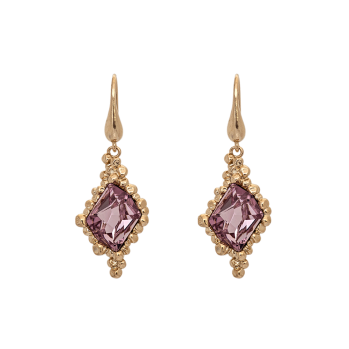 Lily and rose - GISELE EARRINGS – LIGHT AMETHYST (GOLD)