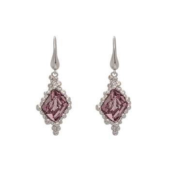 Lily and rose - GISELE EARRINGS – LIGHT AMETHYST (SILVER)