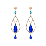 Lily and rose - GARBO EARRINGS – MAJESTIC BLUE