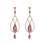 Lily and rose - GARBO EARRINGS – ANTIQUE PINK