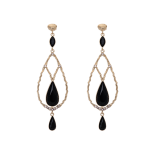 Lily and rose - GARBO EARRINGS – JET