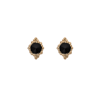 Lily and rose - MISS BONNIE EARRINGS – JET (GOLD)