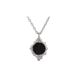 Lily and rose - BONNIE NECKLACE – JET (SILVER)