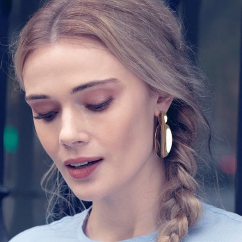 Edblad - Pebble earrings gold