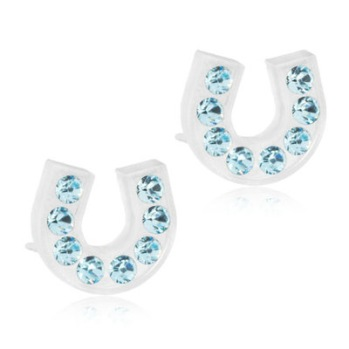 Blomdahl - BRILLIANCE HORSESHOE AQUAMARINE, 7 MM