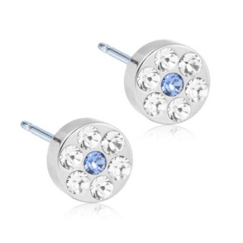 Blomdahl - BRILLIANCE PLENARY CRYSTAL/SAPPHIRE, 5 MM