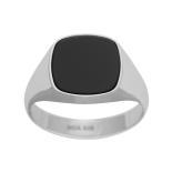 SON - Rhodierad silver ring med svart onyx 167 000