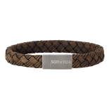 SON - Bracelet dark brown calf leather 19cm 10mm