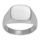 SON - Rhodierad silver ring polished