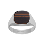 SON - Rhodierad silver ring with yellow tiger eye