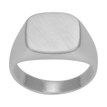 SON - Rhodierad silver ring brushed