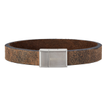 SON - Bracelet dark brown calf leather 21cm 12mm