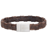 SON - Bracelet dark brown calf leather 23cm