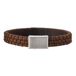 SON - Bracelet brown calf leather 19cm 12mm
