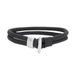 SON - Bracelet black calf leather 19cm