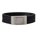 SON - Bracelet black calf leather 19cm 18mm