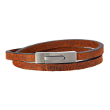 SON - Bracelet brown calf leather 43cm 6mm