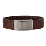 SON - Bracelet brown calf leather 19cm 18mm