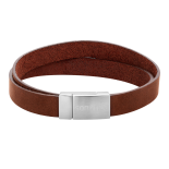SON - Bracelet brown calf leather 19cm