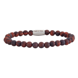 SON - Bracelet matt red tiger eye 21cm