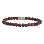 SON - Bracelet matt red tiger eye 19cm
