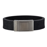 SON - Bracelet black calf leather 21cm 18mm