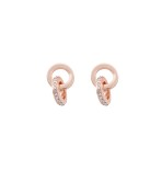 Snö - Connected pendant ear rosé/clear