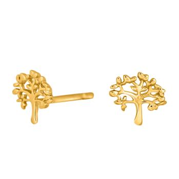 Nordahl Andersen - Tree 7mm örhängen guld