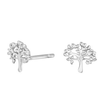 Nordahl Andersen - Tree 7mm örhänge silver