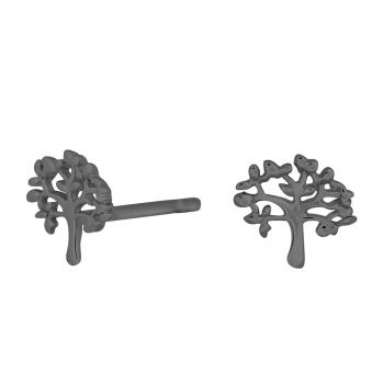 Nordahl Andersen - Tree 7mm örhängen oxiderade