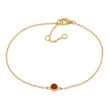 Nordahl - Sweets röd onyx 4,5mm armband guld
